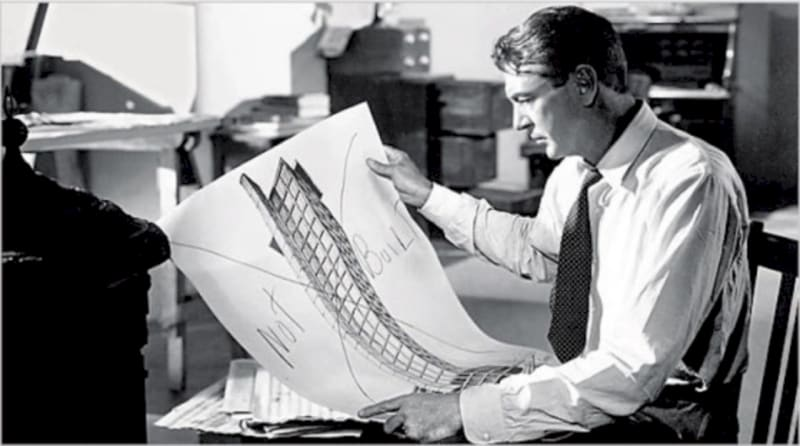 Gary Cooper as Howard Roark in the film of Ayn Rand's 'The Fountainhead' , directed by King Vidor (1949)