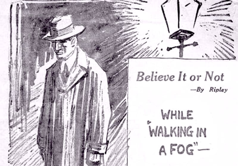 Willis Carrier in the fog, from Ripley's 'Believe it or Not' 1939