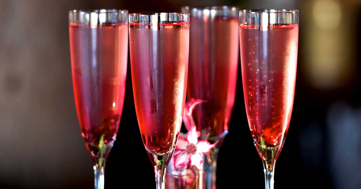Hibiscus Spritzer Cocktail