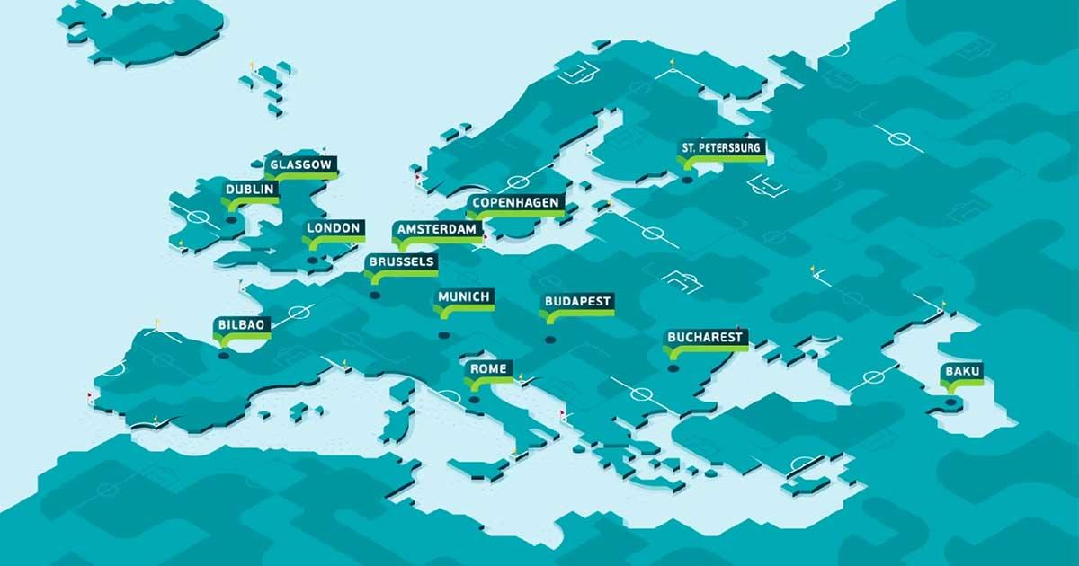 Lokasi piala Eropa EURO 2020