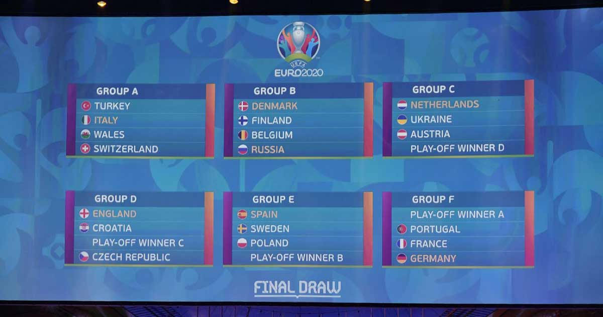 Grup Final Draw Piala Eropa EURO 2020