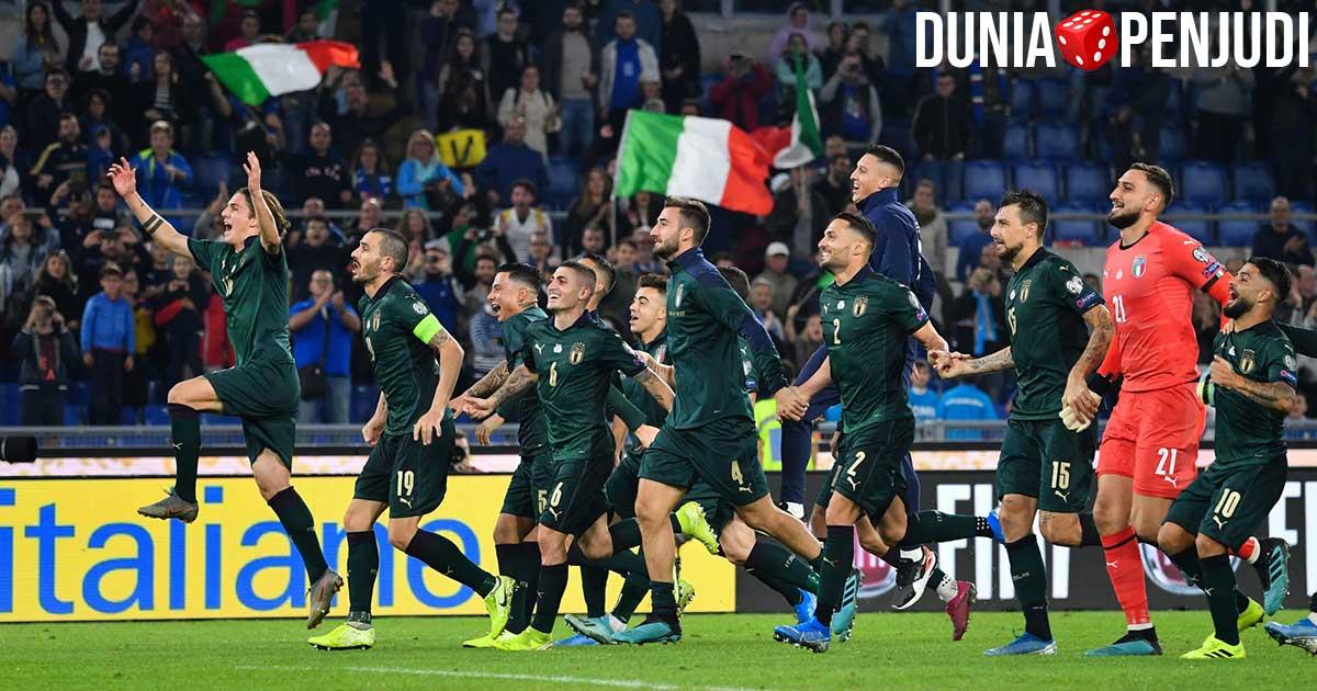 Italia pada pertandingan Piala Eropa EURO 2020