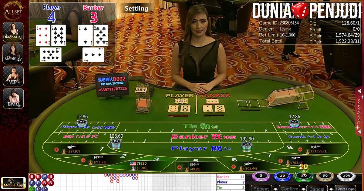 Tips menang judi casino baccarat online dengan mudah