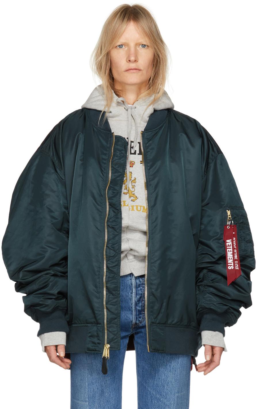Vetements Jackets Reversible Green Alpha Industries Edition Bomber Jacket