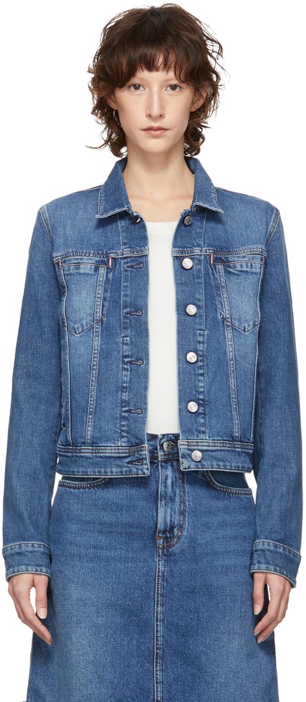 Acne Studios Jackets Blue Blå Konst Denim Cliff Jacket