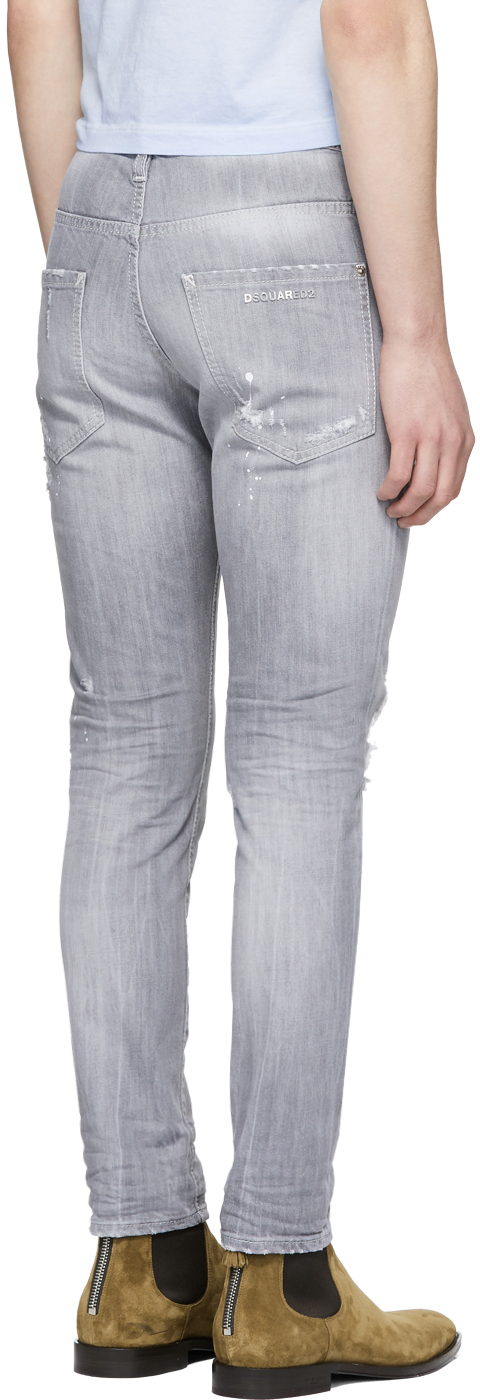 DSQUARED2 Cottons Grey Skater Jeans