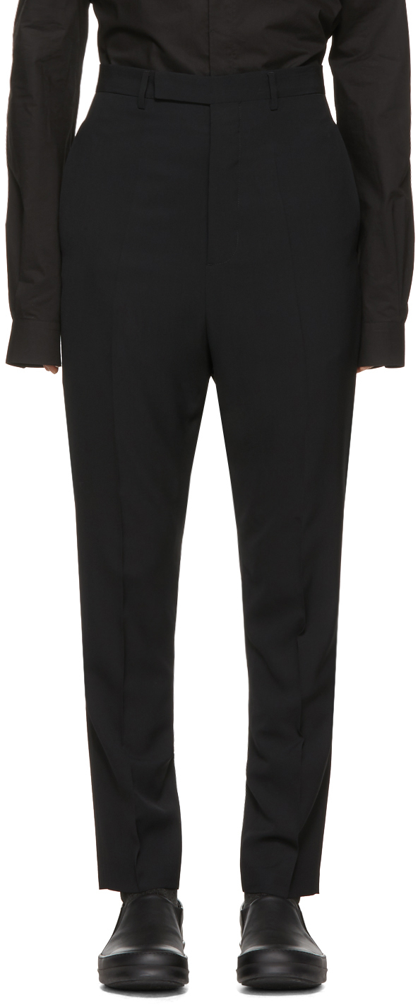 Rick Owens Pants Black Long Astaires Trousers