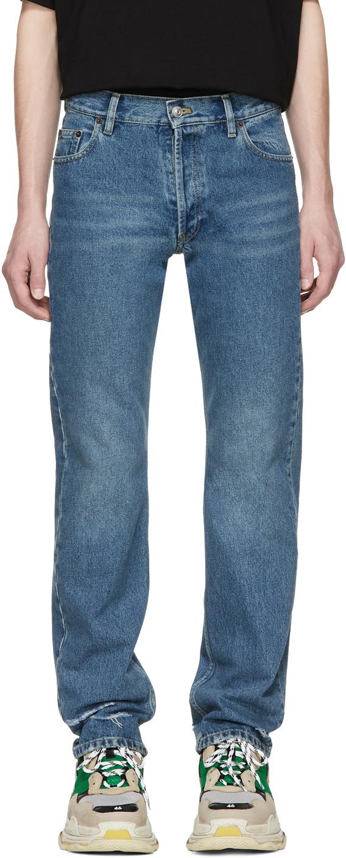 Balenciaga Jeans Blue Destroyed Hem 5 Jeans