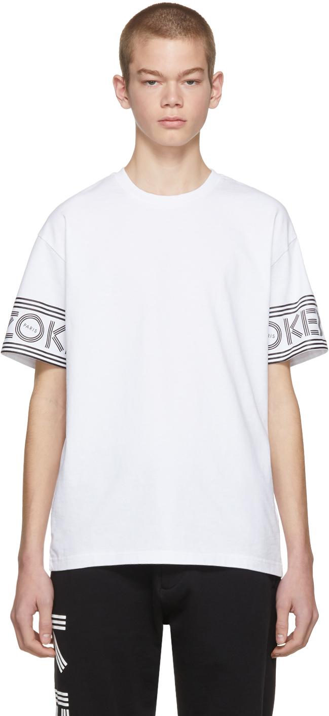 Kenzo Shirts White Logo Sport T-Shirt