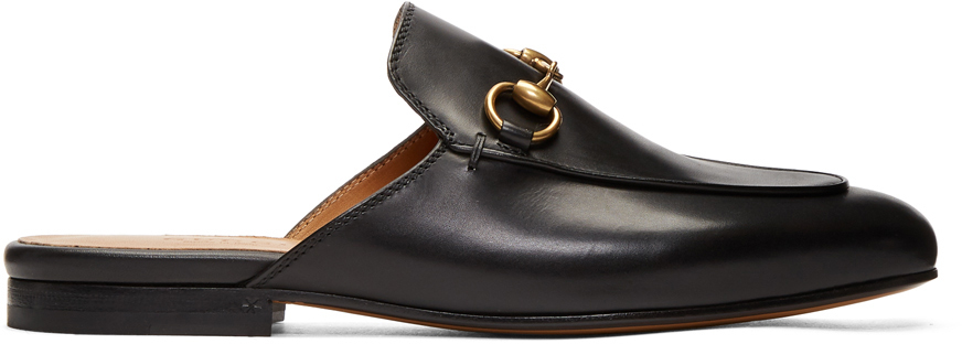 Gucci Loafers Black Princetown Slippers