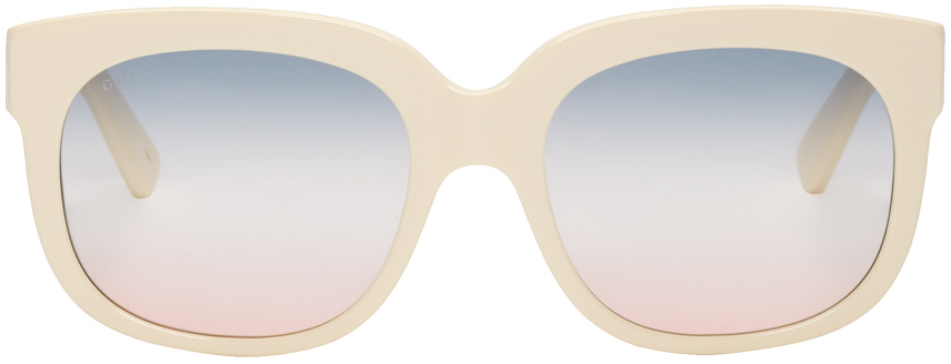 Gucci Sunglasses Off-White Elton John Sunglasses