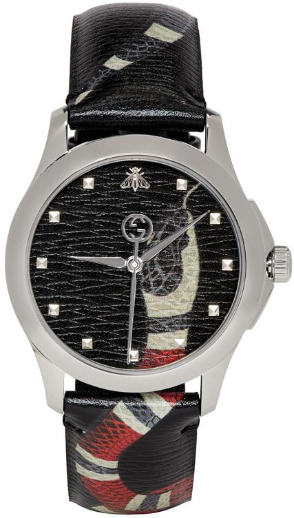 Gucci Coats Black G-Timeless 'Le Marché Des Merveilles' Watch