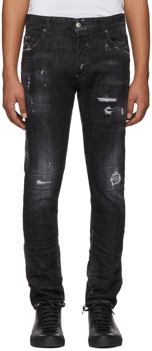 Dsquared2 Denims Black Twin Peaks Skater Jeans
