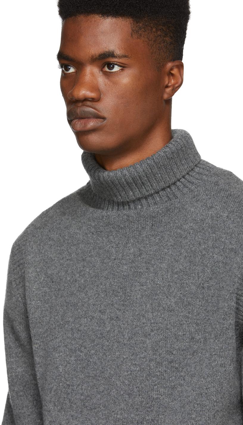 A.P.C. Sweaters Grey Cidre Turtleneck