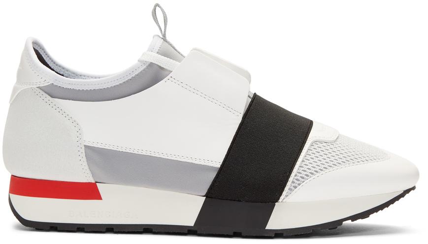 Balenciaga Sneakers White Race Sneakers