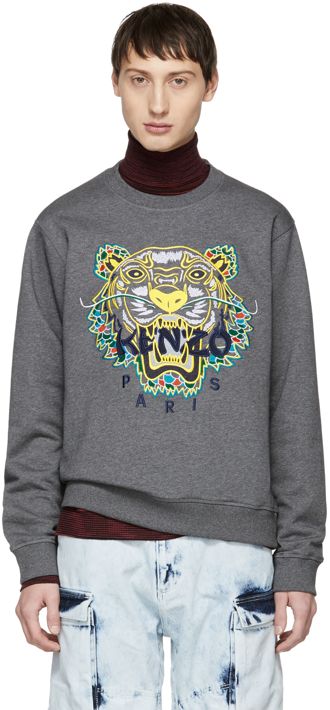 Kenzo Sweatshirts Grey Limited Edition Dragon Tiger Sweatshirt