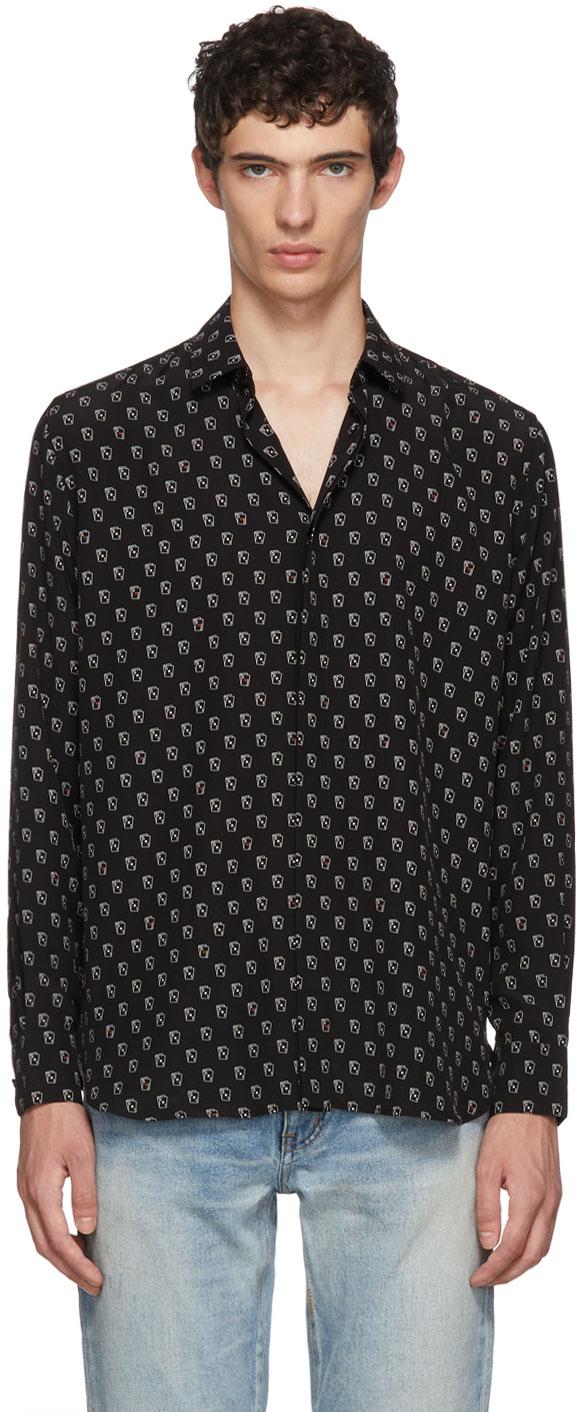 Saint Laurent Tops Black Cards Shirt