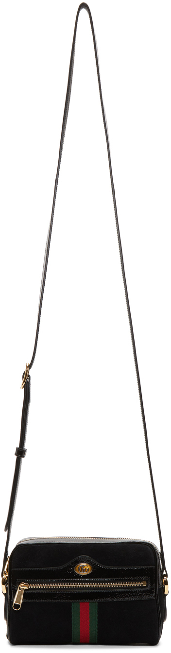 Gucci Bags Black Suede Ophidia Bag