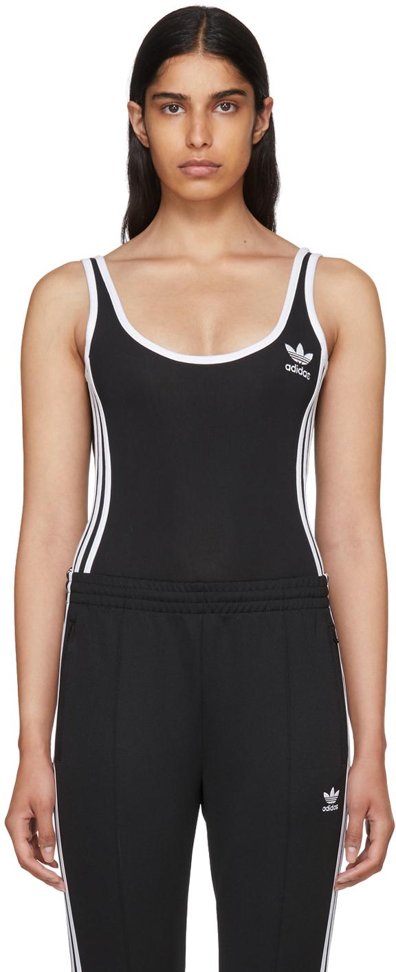 Adidas Originals Lingerie Black 3-Stripes Bodysuit