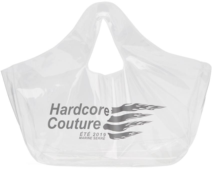 Marine Serre Totes Transparent 'Hardcore Couture' Tote