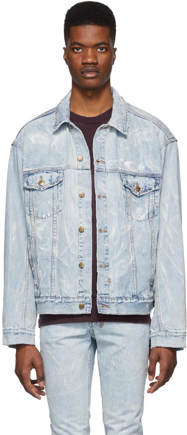 Ksubi Jackets Blue Denim Classic Jacket