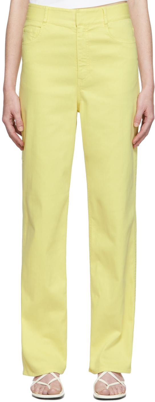 Tibi Jeans Yellow Spring Carpenter Jeans