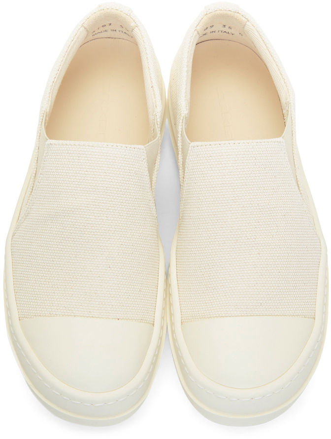 Rick Owens Drkshdw Sneakers Off-White Boat Slip-On Sneakers