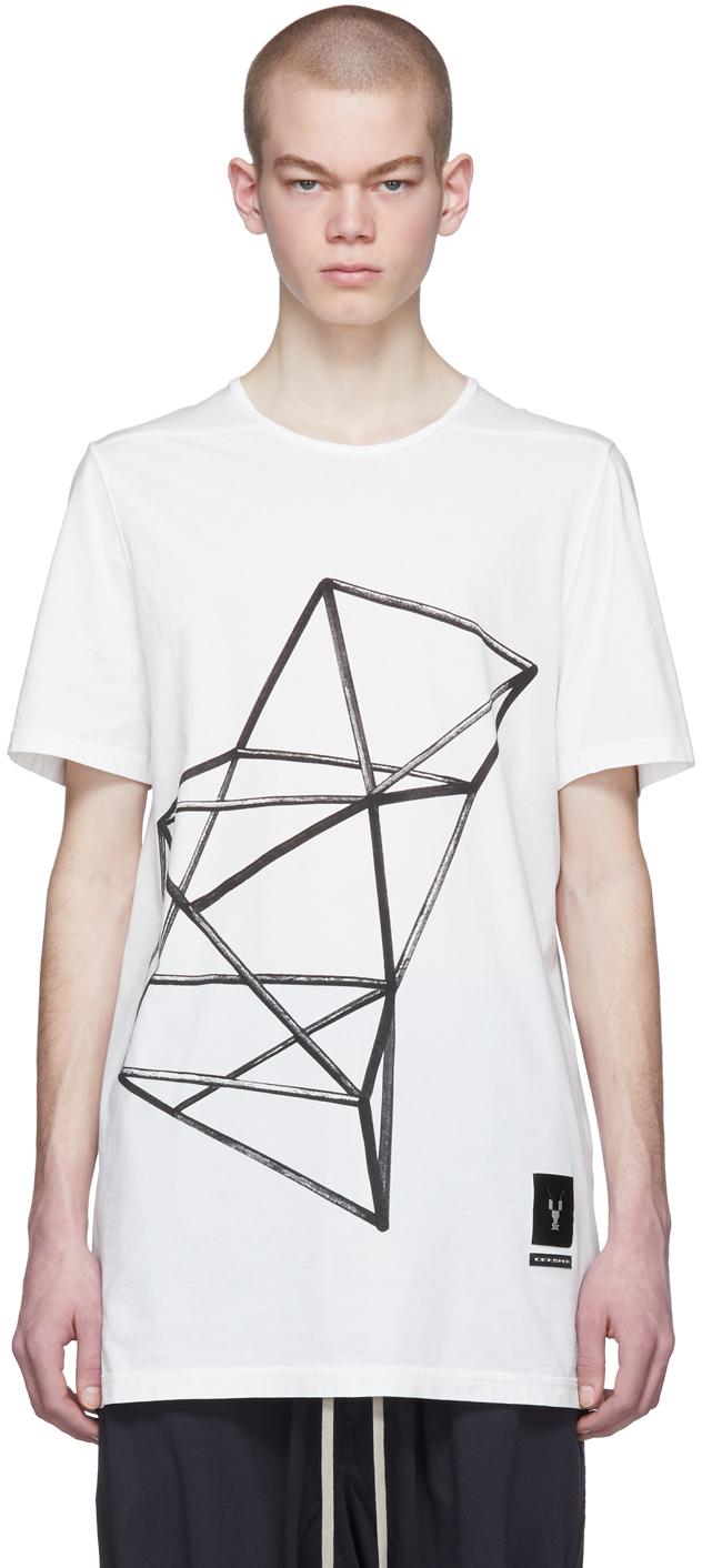 Rick Owens Drkshdw T-shirts White Graphic Tarp T-Shirt