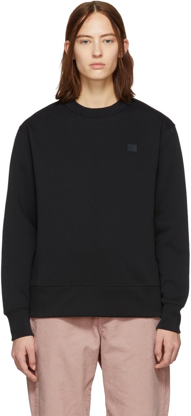 Acne Studios Tops Black Fairview Face Sweatshirt