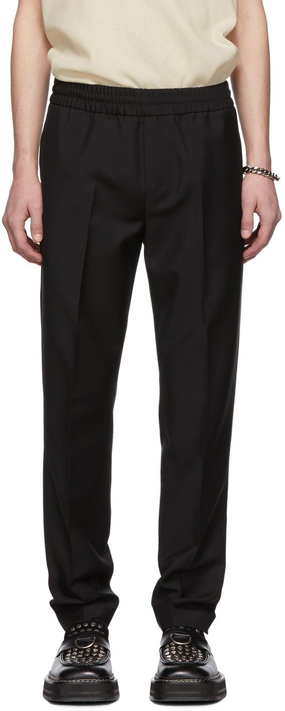 Acne Studios Jewelry Black Wool & Mohair Ryder Trousers