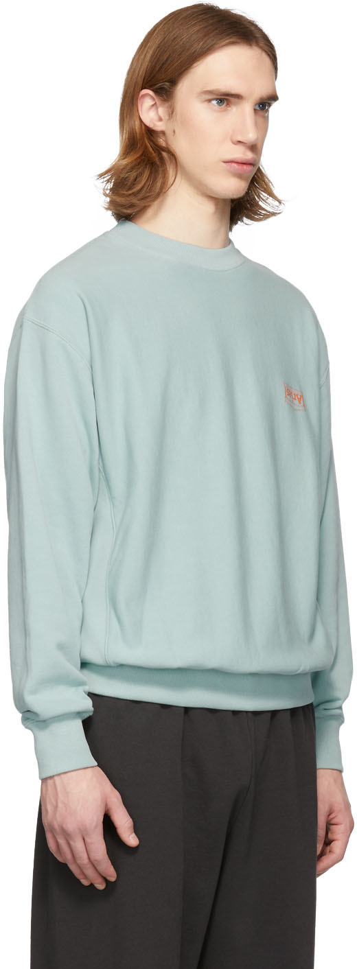 Aries T-shirts Blue Basic Sweatshirt