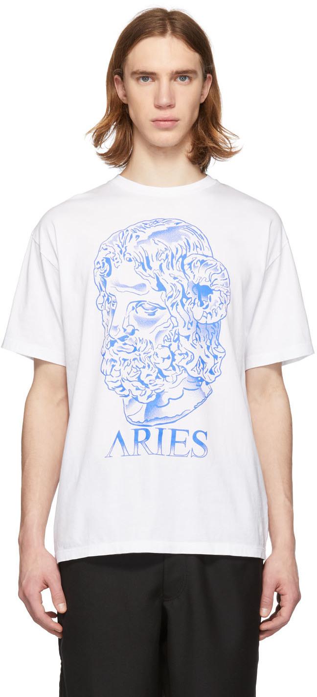 Aries T-shirts White Serapis T-Shirt
