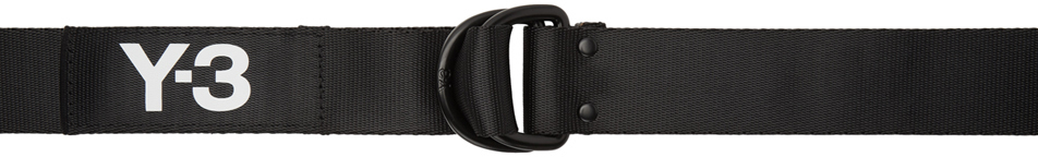 Y-3 Belt Black Logo Belt