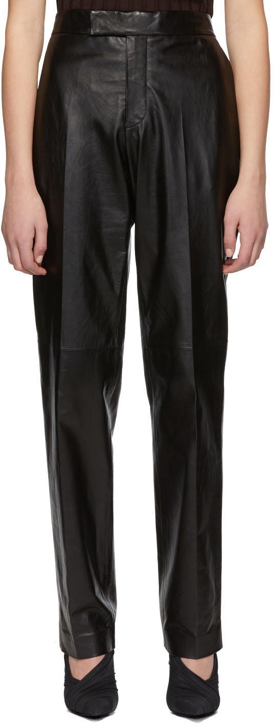 Helmut Lang Pants Black Leather Trousers