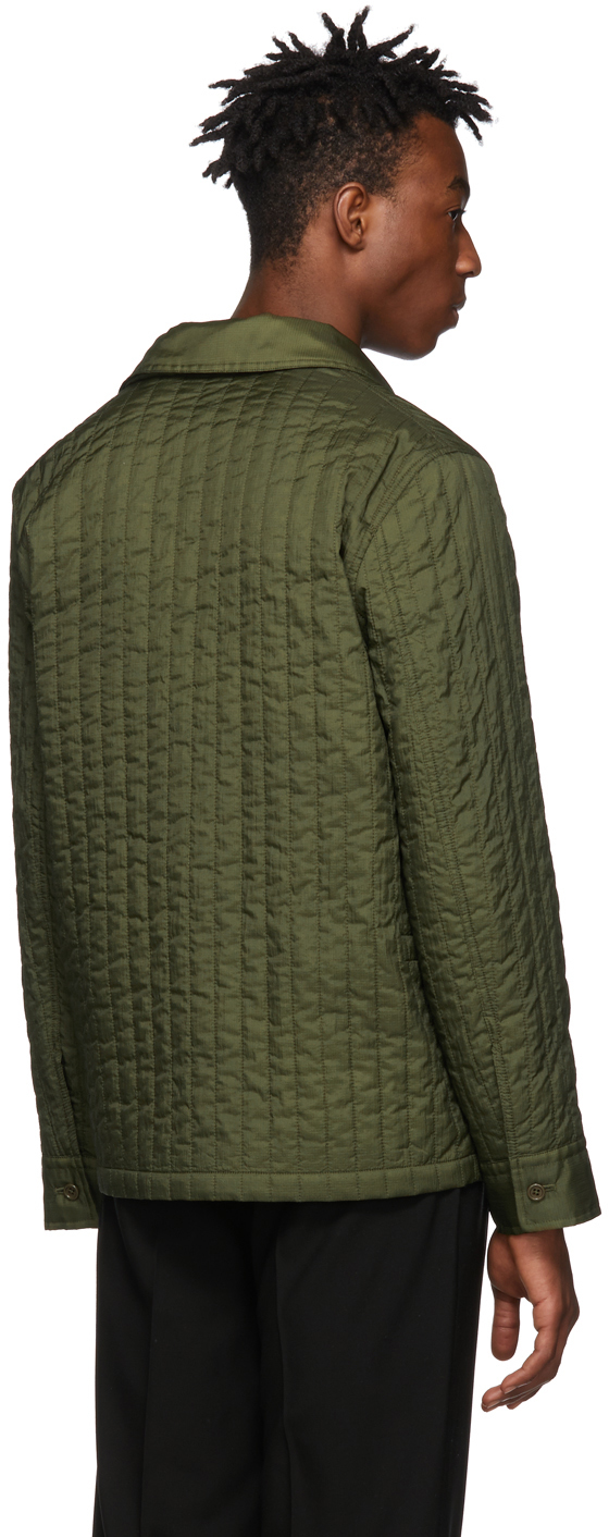 Helmut Lang Jackets Green Quilted Workwear Jacket