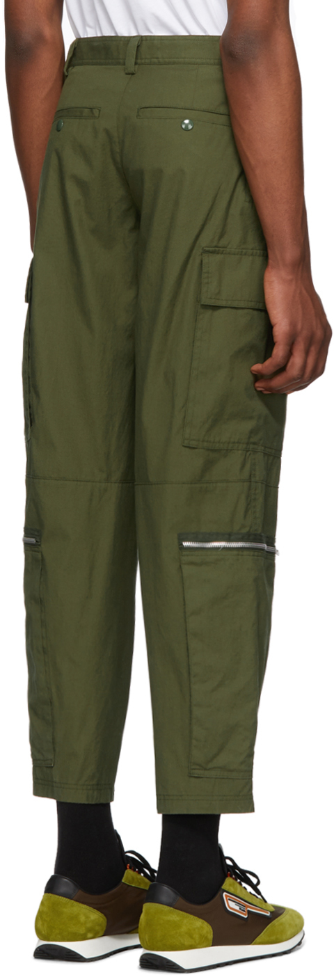 Helmut Lang Pants Green Aviator Cargo Pants