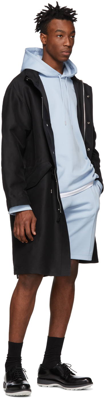 Helmut Lang Accessories Blue Fishtail Hoodie