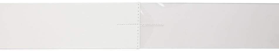 Mm6 Maison Margiela Belt White Wide Half-And-Half Belt