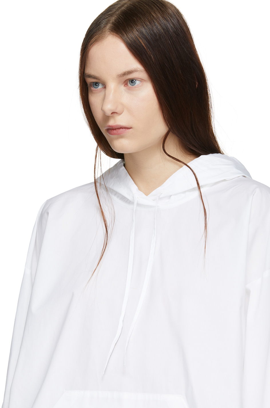 Mm6 Maison Margiela Accessories White Cotton Hoodie