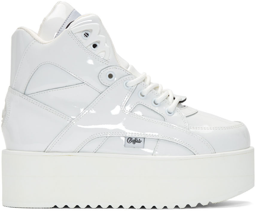 Junya Watanabe Sneakers White Buffalo London Edition Rising Towers High Sneakers