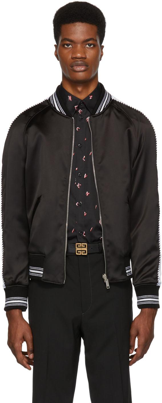Givenchy Jackets Reversible Black Monster Embroidered Varsity Bomber Jacket