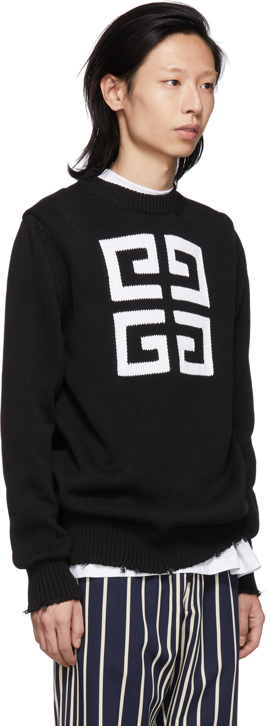 GIVENCHY Cottons Black 4G Sweater