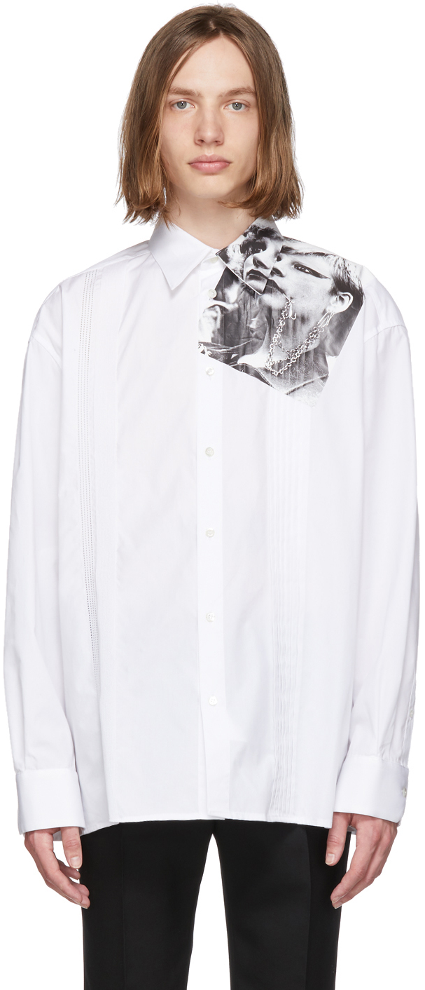 Raf Simons T-shirts White Cropped Punkette Shirt