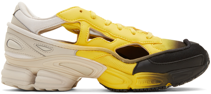 Raf Simons Socks Yellow & Off-White adidas Originals Edition Replicant Ozweego Sock Pack Sneakers