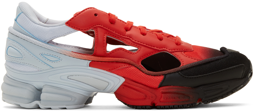Raf Simons Socks Red & Blue adidas Originals Edition Replicant Ozweego Sock Pack Sneakers