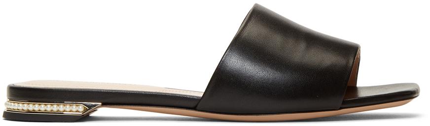 Nicholas Kirkwood Slippers Black Casati Pearl Slides