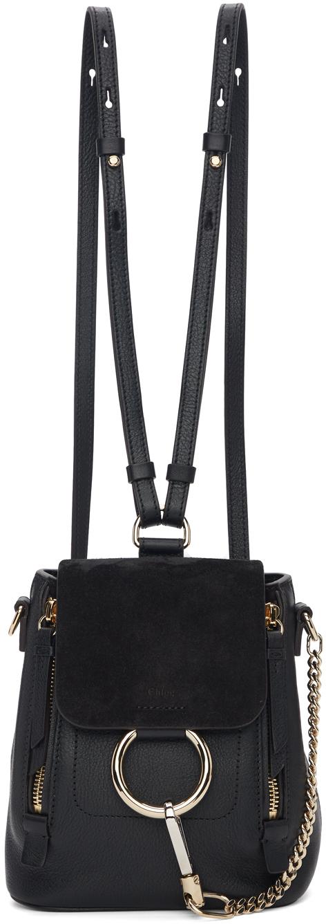 Chloé Backpacks Black Mini Faye Backpack
