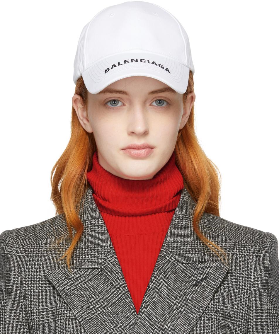 Balenciaga Accessories White Logo Visor Ball Cap
