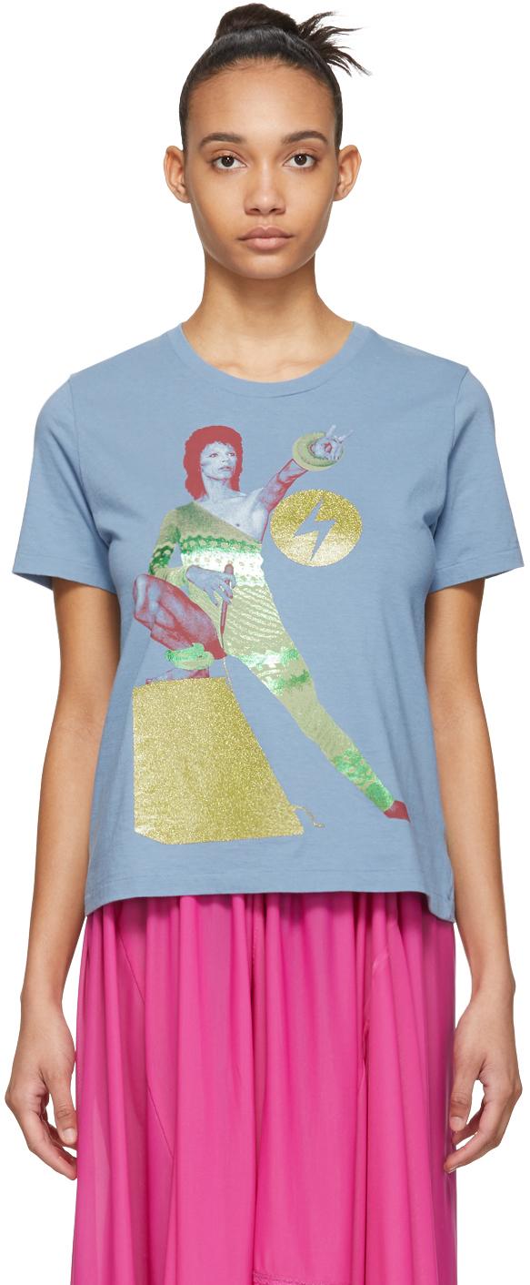 Undercover T-shirts Blue David Bowie T-Shirt