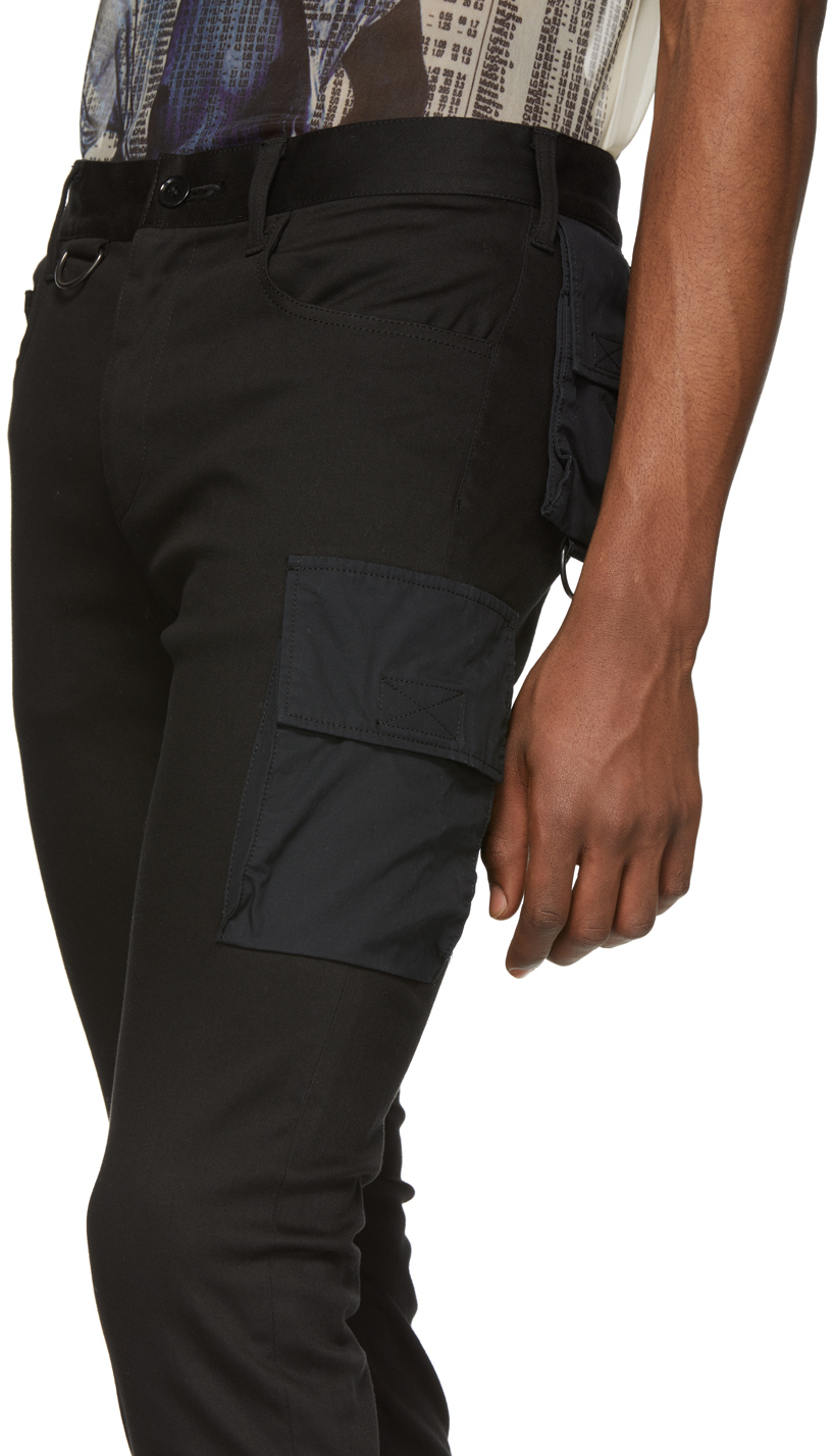 Undercover Pants Black Twill Cargo Pants